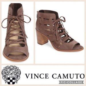 Vince Camuto Taupe Tressa Block Heel sz 7